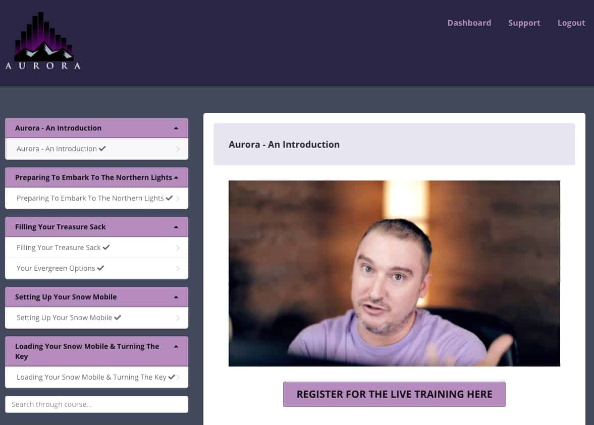 Aurora Training Software with Jono Armstrong