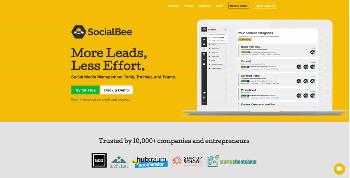 SocialBee Social Media Management Tool